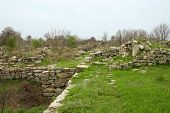 Ruins Of Ancient Troy City,
