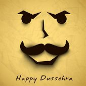 pic of ravana  - Indian festival Happy Dussehra background with Ravana Face - JPG