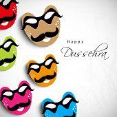 stock photo of dussehra  - Indian festival Happy Dussehra background - JPG