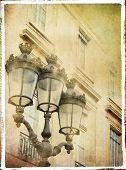 ������, ������: Parisian architecture details vintage styled picture
