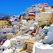colored romantic Santorini