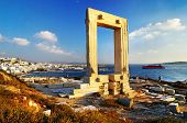 Portara gate, Naxos island, Greece