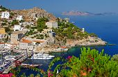 image of hydra  - pictorial port of Hydra island  - JPG