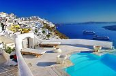 stock photo of greek-architecture  - romantic holidays  - JPG