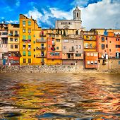 Girona - pictorial city of Catalonia, Spain