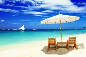 stock photo of boracay  - tropical vacation - JPG