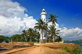 pictorial view of light houe - Galle fort (Sri Lanka)