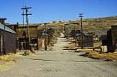 stock photo of wild west  - ghost town in the desert wild west - JPG