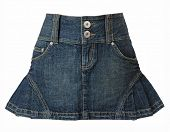 stock photo of jeans skirt  - jeans skirt - JPG