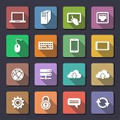 Network and mobile devices. Network connections icons. Flaticons series (metro style flat icons with