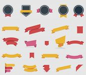 stock photo of waving  - Vector ribbons and labels - JPG