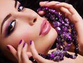 image of diva  - Fashion woman with jewelry precious decorations  - JPG