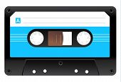 image of cartridge  - Black Audio Cassette Icon - JPG