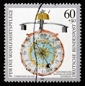Postage Stamp Germany 1992 Antique Clock