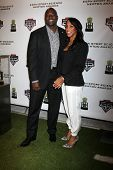 LOS ANGELES  - FEB 9:  Marcellus Wiley, fiance at the ESPN Sport Science Newton Awards at Sport Scie