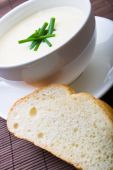 Fresh Asparagus Soup With Bread