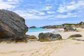 Secluded beach on the south shore of Bermuda.