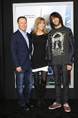 LOS ANGELES - FEB 10: Steve Fenton, Leeza Gibbons, her son, Troy Meadows at the premiere of Columbia