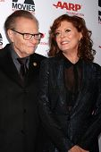 LOS ANGELES - FEB 10:  Larry King, Susan Sarandon at the AARP