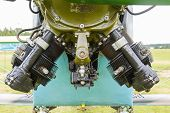 stock photo of biplane  - engine biplane Polikarpov Po - JPG