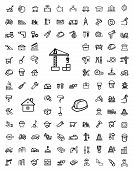 picture of skid-steer  - vector black construction icons set - JPG