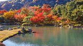 Постер, плакат: Tenryuji Sogenchi Pond Garden in Kyoto