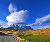 Journey to the End of the World. Incomparable beauty national park Torres del Paine in southern Chil