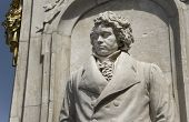 image of mozart  - Beethoven statue as part of the monument dedicated to German composers at the Tiergarten at Berlin - JPG