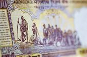 stock photo of gandhi  - An Indian banknote showing the country - JPG