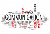 foto of communication  - Word Cloud Image Graphic with Communication related tags - JPG