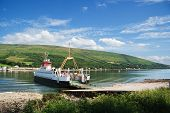 picture of bute  - Car ferry on the Kyles of Bute Scotland - JPG