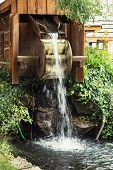 picture of water-mill  - Small water mill in the garden - JPG