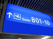 Airport Gate Sign, Flight Boarding, Airline,europe poster