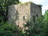 stock photo of stockade  - Castle that was photographed at Tiverton in Devon - JPG