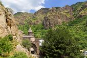 picture of armenia  - Photo of Geghard monastery in Armenia surrounded with forest - JPG
