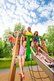 foto of chute  - Happy kids - JPG