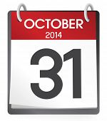 stock photo of calendar 2014  - October 2014 Calendar Vector - JPG