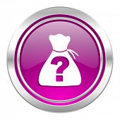 image of riddles  - riddle violet icon   - JPG