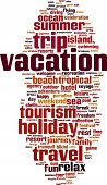 picture of sabbatical  - Vacation word cloud concept - JPG