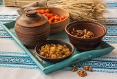 image of christmas meal  - Ingredients for cooking traditional meal in eve Christmas  - JPG