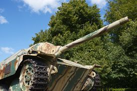 image of panzer  - Panzer Tank in the memorial museum of the Battle of Normandy - JPG