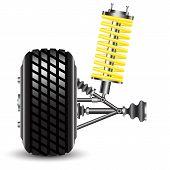 foto of suspension  - Front car suspension - JPG