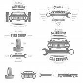 ������, ������: Car Service Vector Badge Set