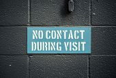 image of visitation  - No Contact During Visit Sign In A Prison Or Jail - JPG