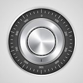 stock photo of combinations  - 3d realistic combination safe lock - JPG