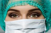 stock photo of surgeons  - Female doctor - JPG