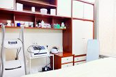 image of cosmetology  - Interior of a cosmetology room - JPG