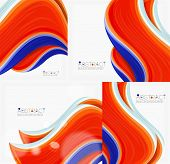 stock photo of solid  - Abstract realistic solid wave background - JPG