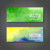 foto of ombre  - Watercolor banners - JPG