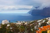 stock photo of canary  - Town Los Gigantes at Tenerife island  - JPG